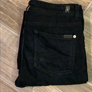 7 For All Mankind Slimmy Boys Size 16 Black
